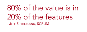 80% of the values