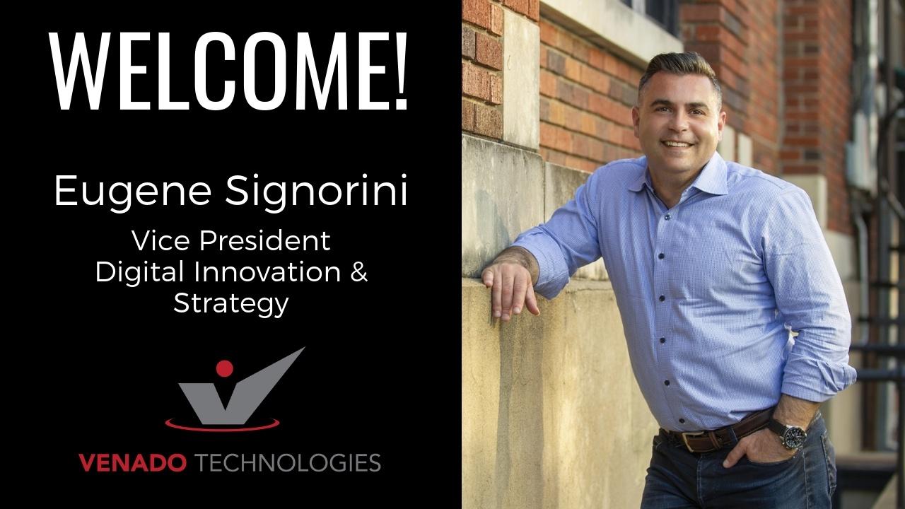 Welcome Eugene Signorini - Vice President